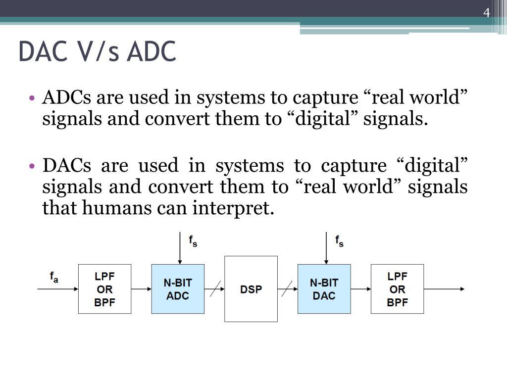 DAC V/s ADC