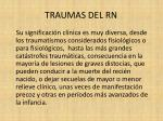traumas del rn3