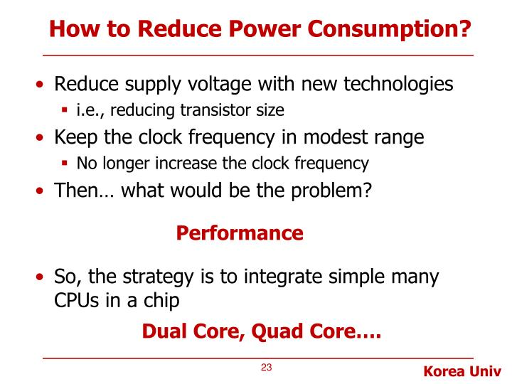 How to Reduce Power Consumption?