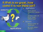 if ipv6 is so great how come it is not there yet