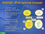 isatap ipv6 behind firewall
