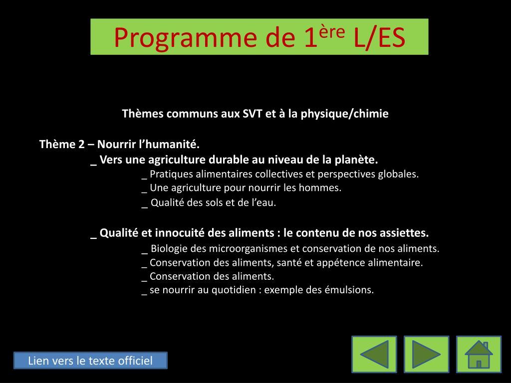 Thèmes communs aux SVT et à la physique/chimie