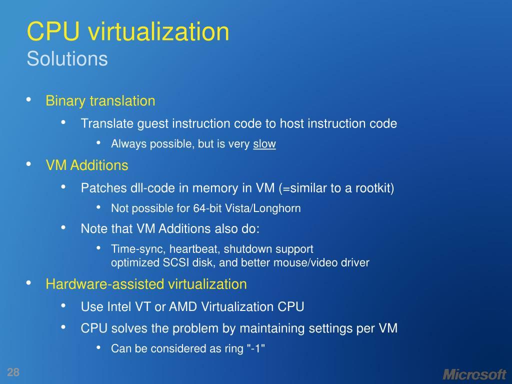 CPU virtualization