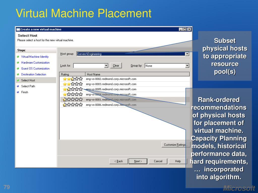 Virtual Machine Placement