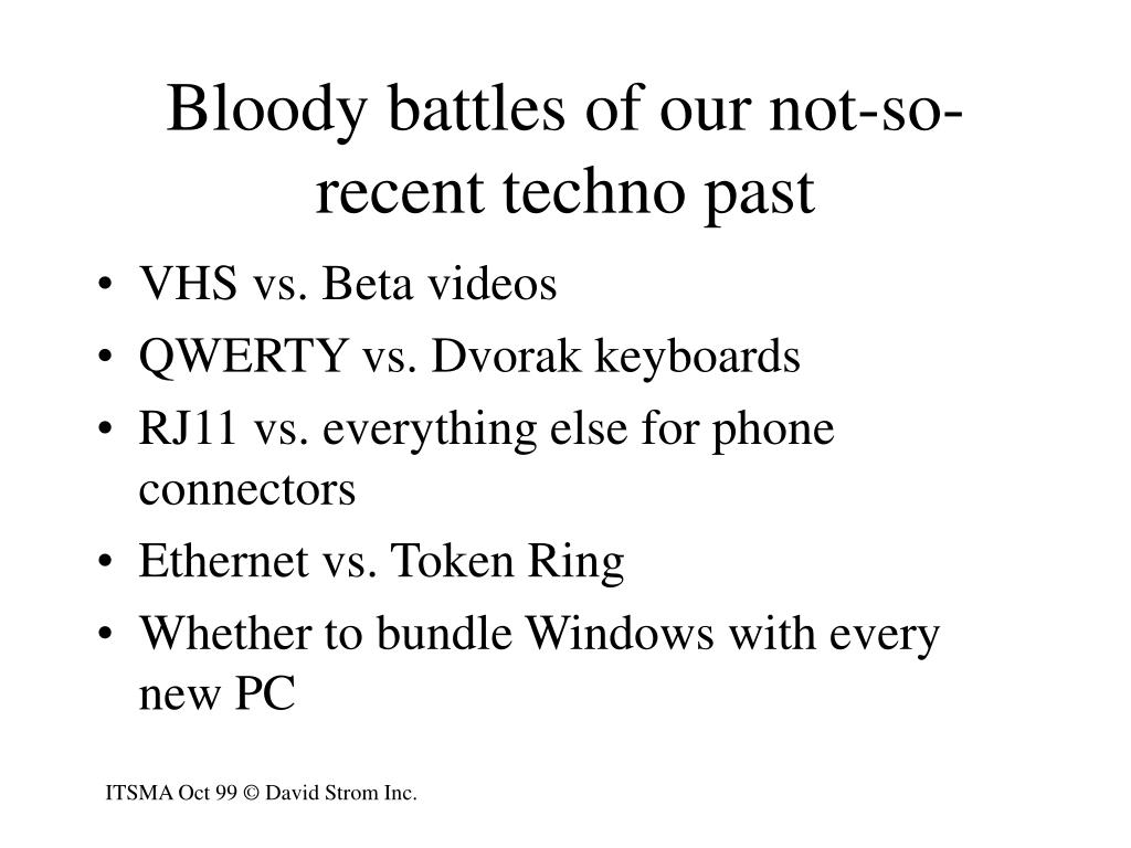Bloody battles of our not-so-recent techno past