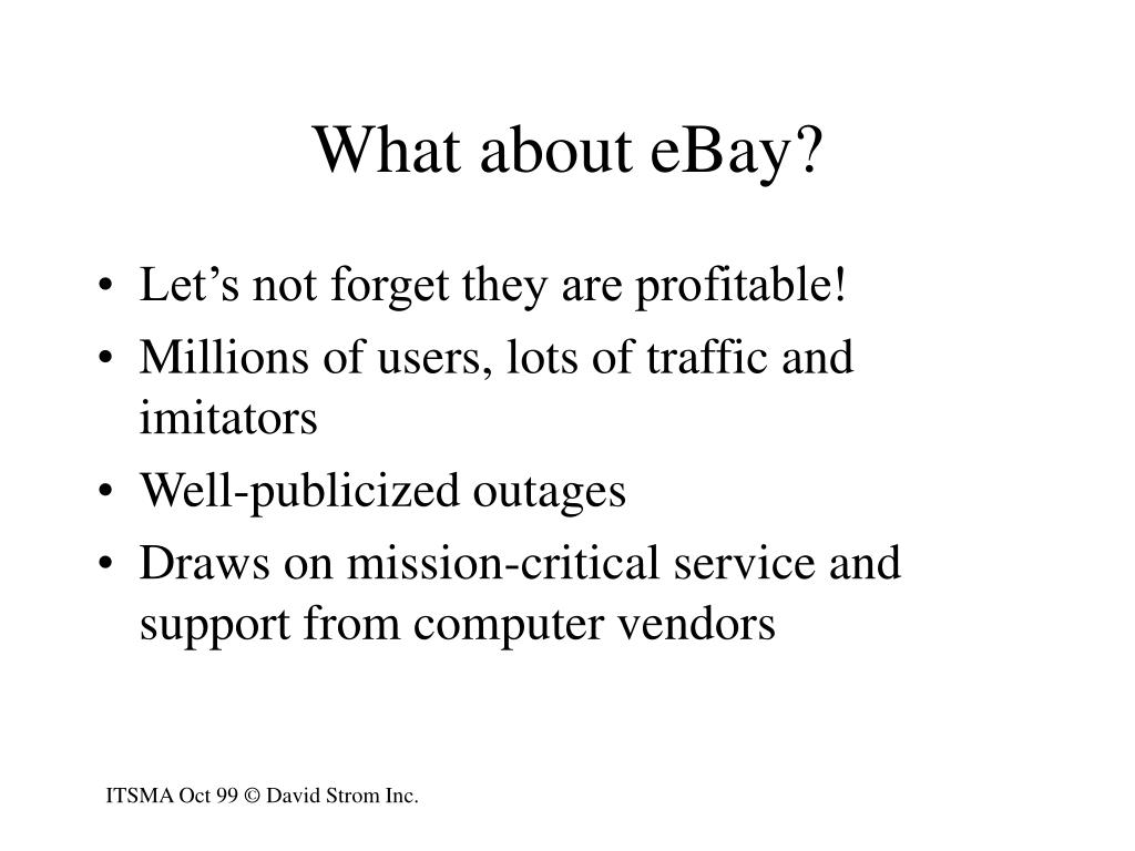 What about eBay?