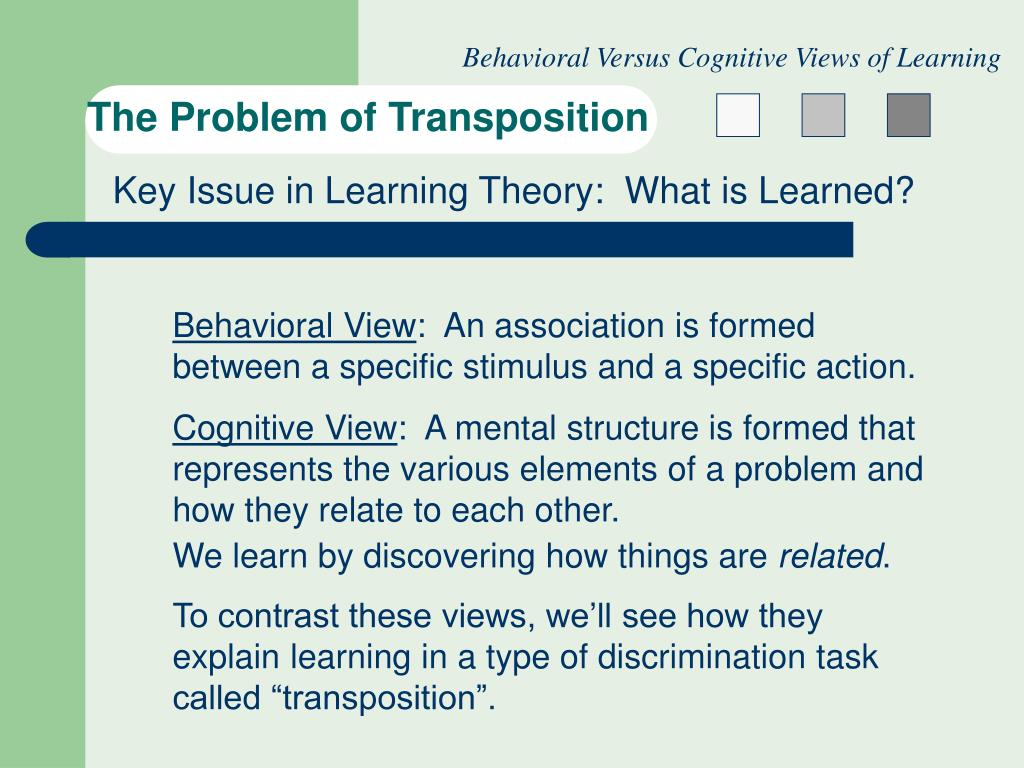the problem of transposition l.