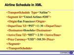 airline schedule in xml
