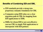 benefits of combining edi and xml