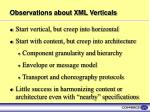 observations about xml verticals
