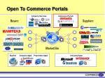 open to commerce portals