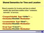 shared semantics for time and location