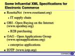 some influential xml specifications for electronic commerce