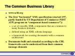 the common business library