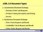xcbl 2 0 document types