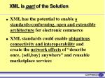 xml is part of the solution