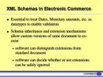 xml schemas in electronic commerce