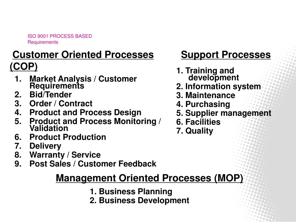 ISO 9001 PROCESS BASED