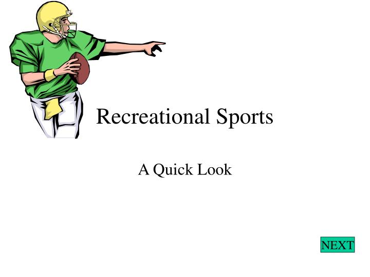 recreational sports n.