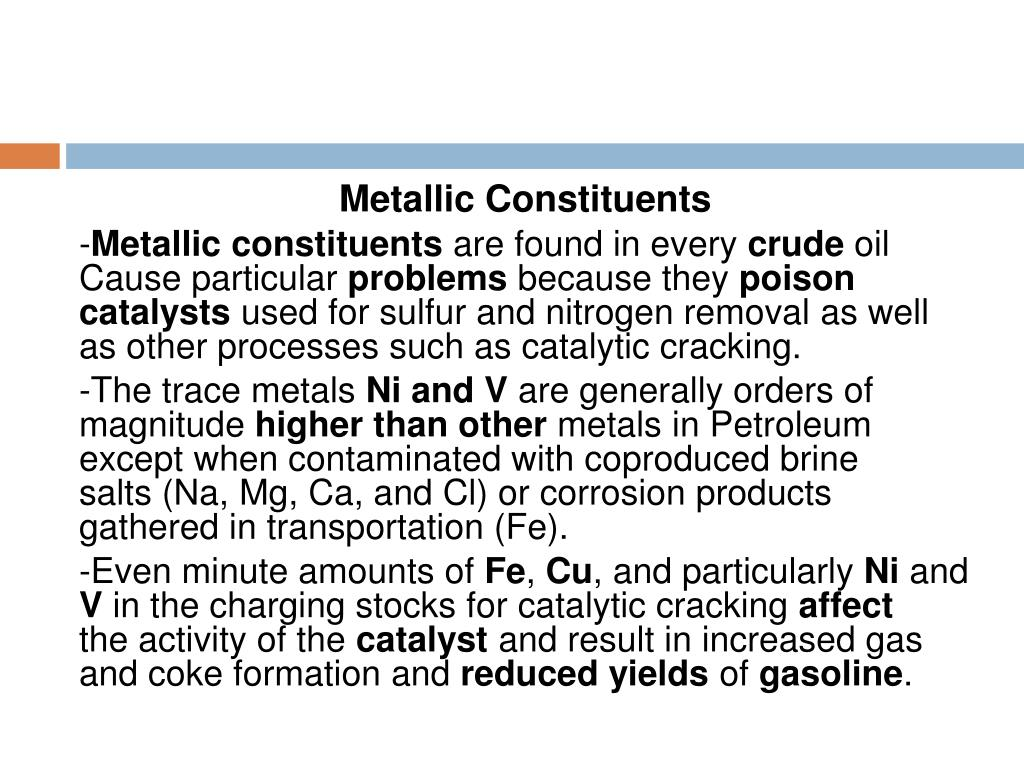 Metallic Constituents