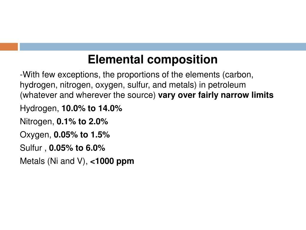 Elemental composition