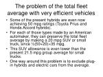 the problem of the total fleet average with very efficient vehicles