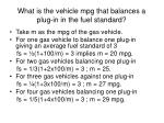 what is the vehicle mpg that balances a plug in in the fuel standard