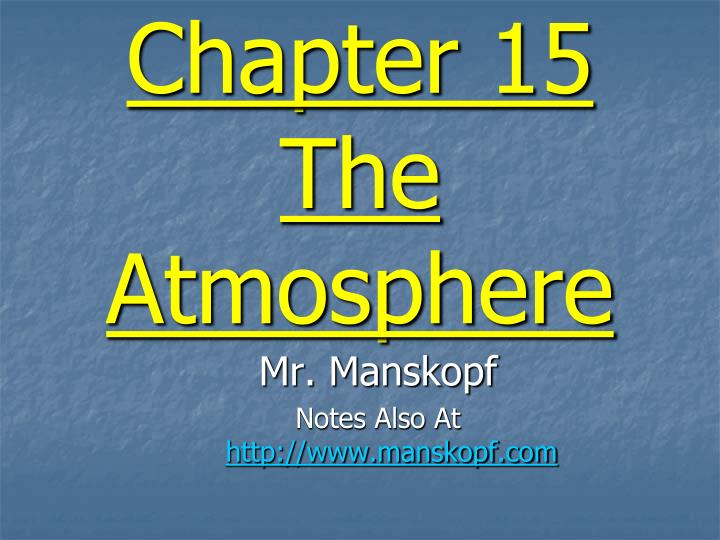 chapter 15 the atmosphere n.