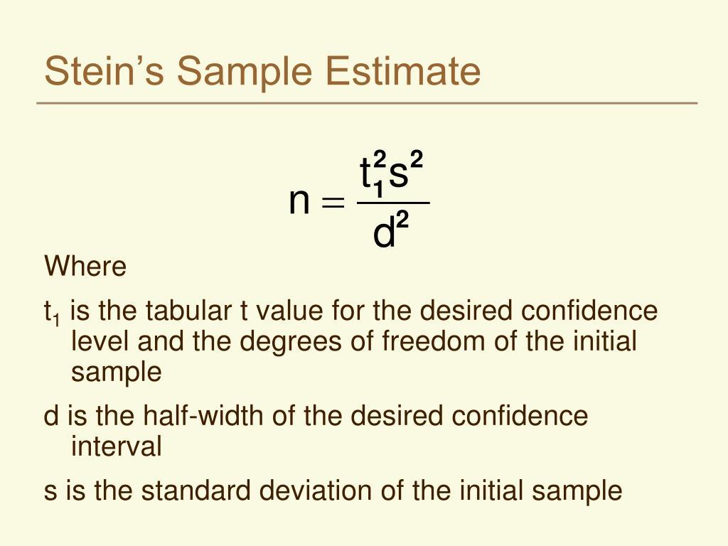 Stein's Sample Estimate