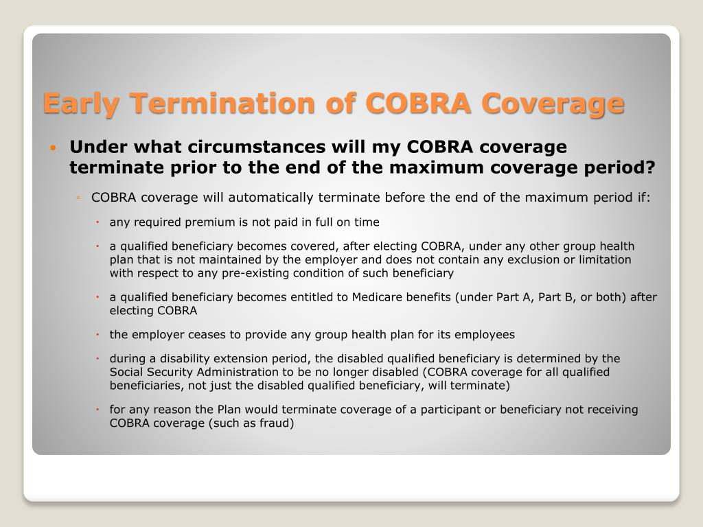 PPT - COBRA Continuation Coverage PowerPoint Presentation ...
