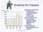 breaking the impasse21