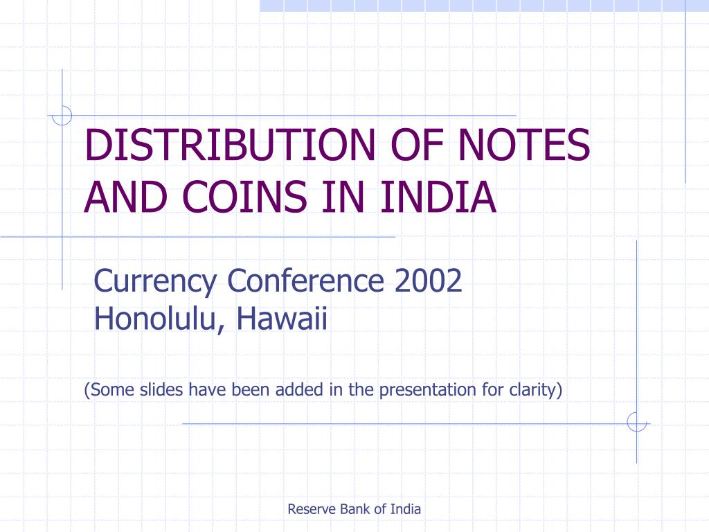 distribution of notes and coins in india l.