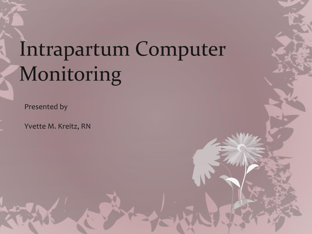 intrapartum computer monitoring l.