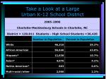 take a look at a large urban k 12 school district