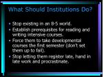 what should institutions do