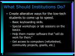 what should institutions do105