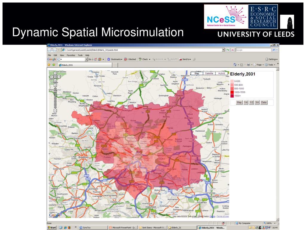 Dynamic Spatial Microsimulation
