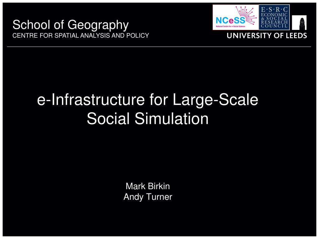 e-Infrastructure for Large-Scale