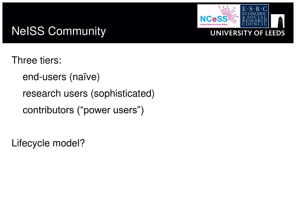 NeISS Community