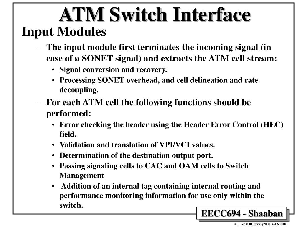 ATM Switch Interface