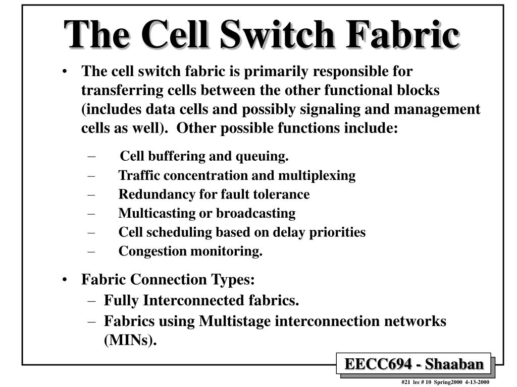 The Cell Switch Fabric