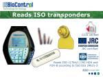 reads iso transponders