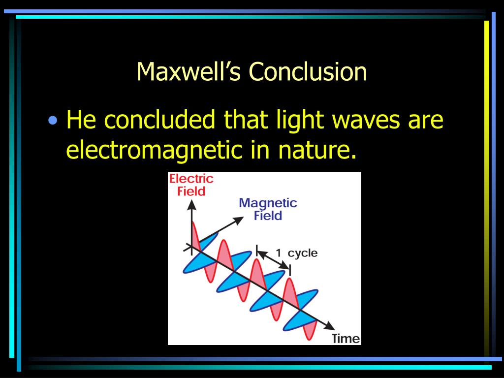 Maxwell's Conclusion
