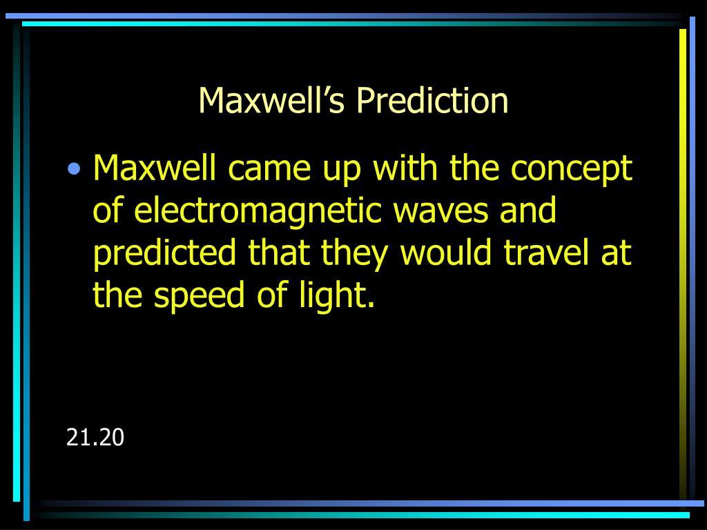 Maxwell's Prediction