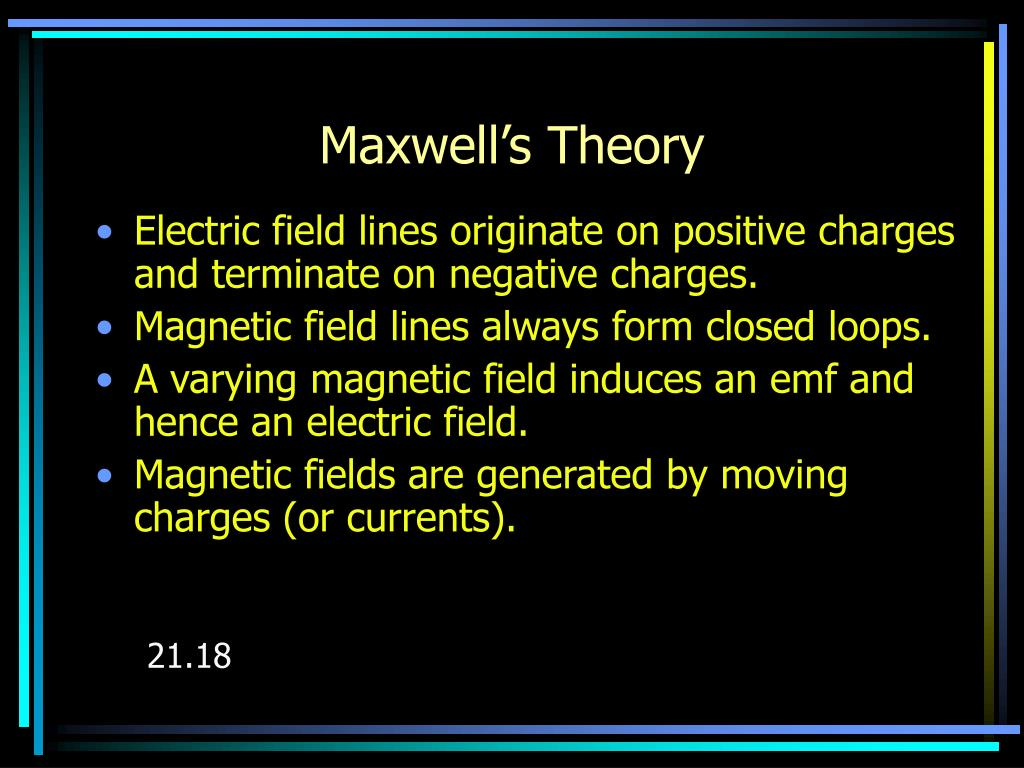 Maxwell's Theory