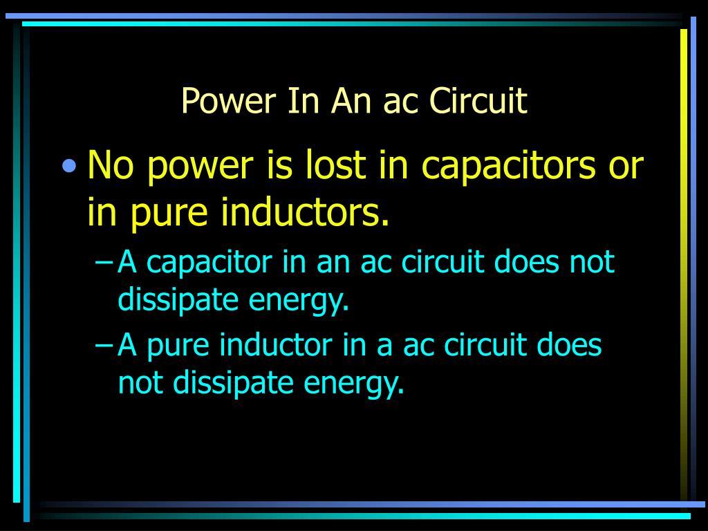Power In An ac Circuit