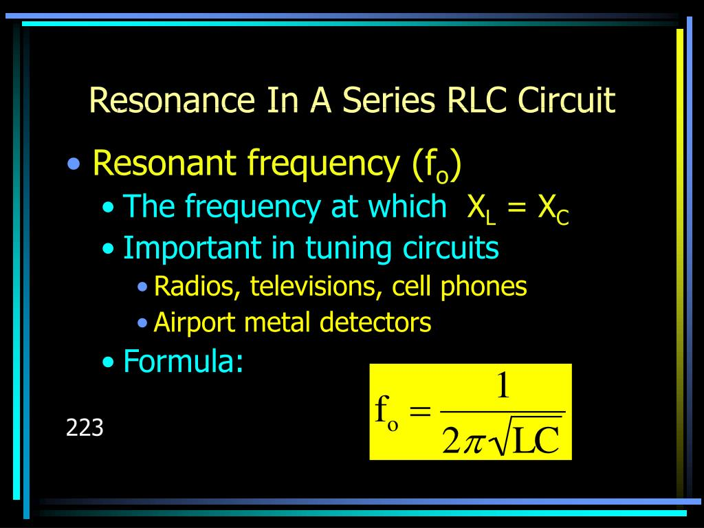 Resonance In A Series RLC Circuit