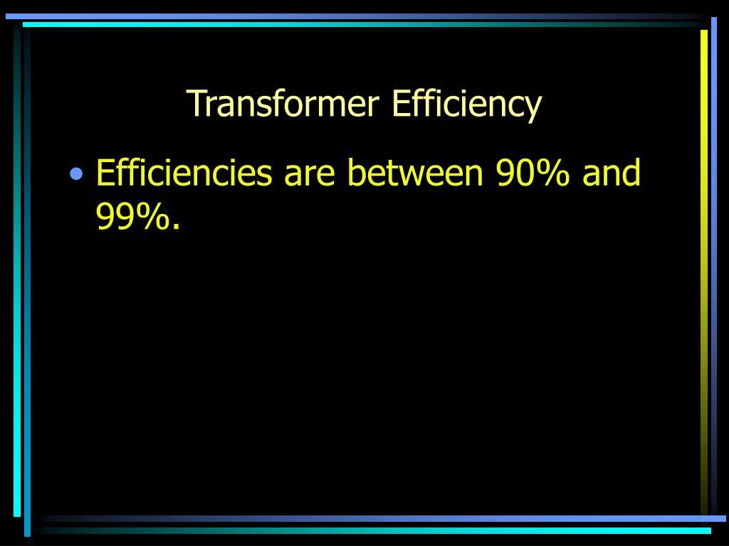 Transformer Efficiency