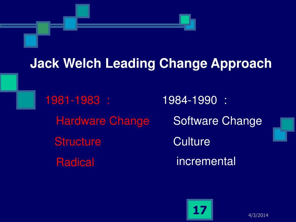 leading change jack welch