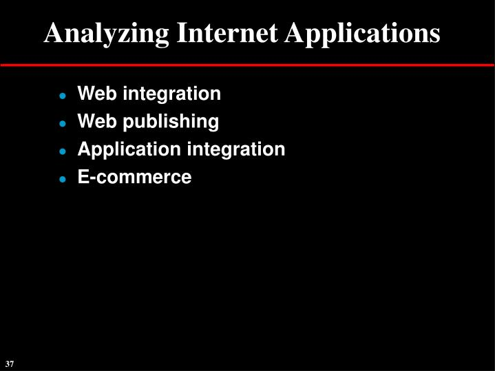 Analyzing Internet Applications